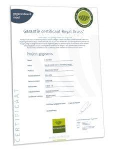 kunstgras garantie