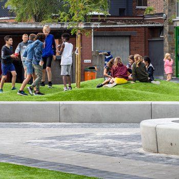 Kunstgras-schoolplein
