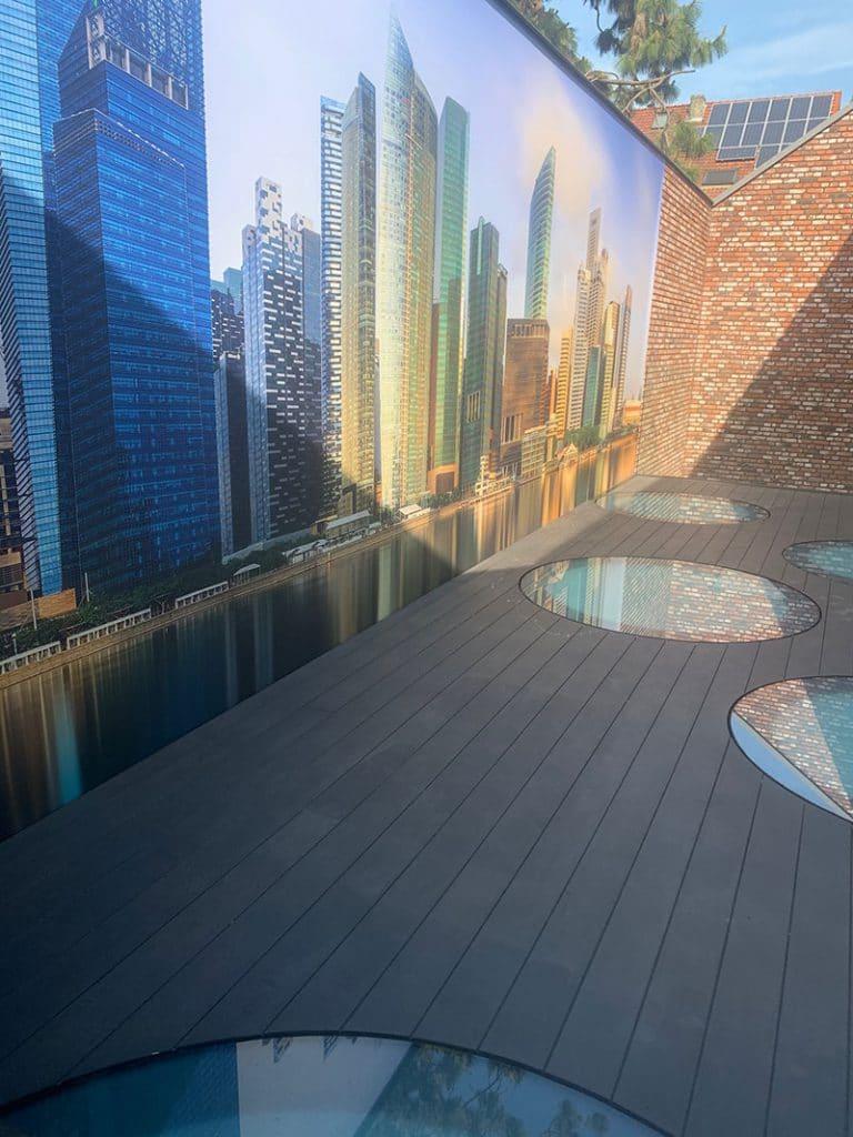 Loft dakterras voorzien van-kunstgras