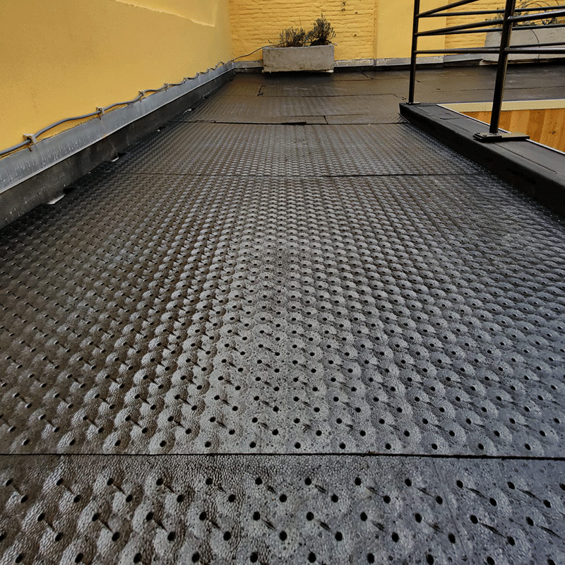 Drainage platen kunstgras-dakterras
