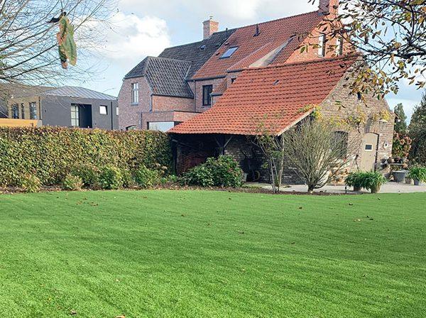 Kunstgras landelijke tuin