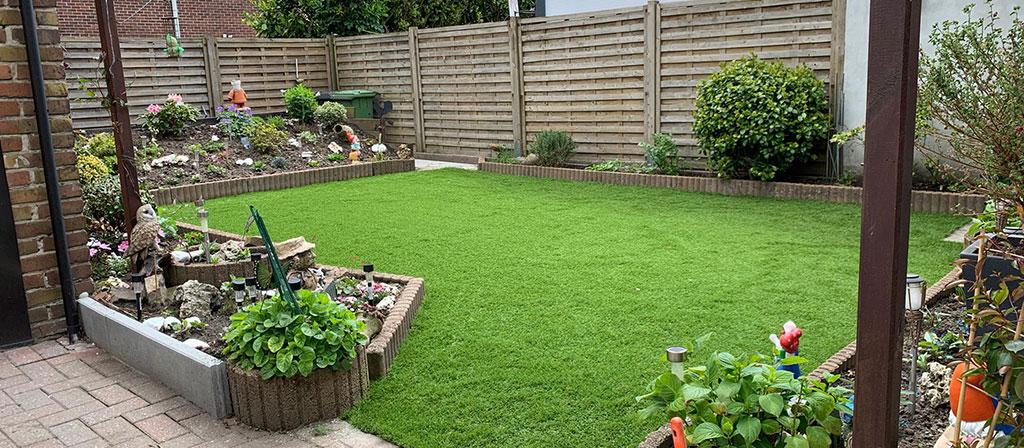Kunstgras kleine tuin Wondelgem